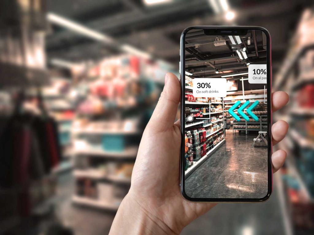 Aplicación de RA aumentada proporciona servicios digitales en edificios comerciales